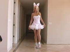 Sexy bunny Alison Angel shakes her ass in front of a cam tube porn video