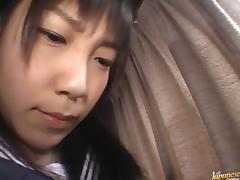 Hina Sakura pretty Asian model plays an anal toy game tube porn video