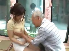 Candid young japan girl be seduced by old man tube porn video