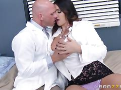 Alison Tyler and Phoenix Marie finger each other's vags in FFM video tube porn video