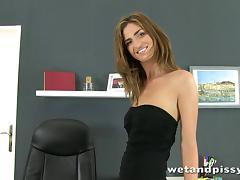 Solo sex video with lovely Charlotte wearing stockings tube porn video