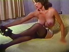 CHEEKY STRIPTEASE - vintage nylons stockings tube porn video