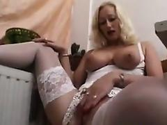 Amateur Blonde MILF In A Sexy Outfit tube porn video