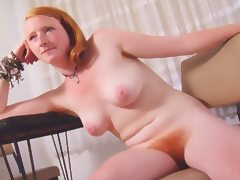 Real Redhead Isadora Nice Pink Tits Hairy Pink Red Bush tube porn video