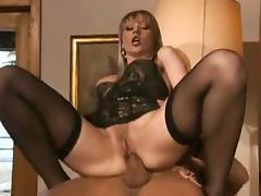 Anal for blonde in stockings tube porn video